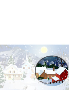 New Holiday Season Greeting Cards Landscape Template: 298996