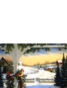 New Holiday Season Greeting Cards Landscape Template: 299799