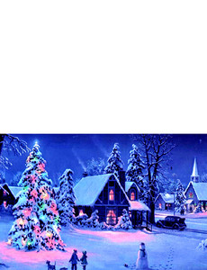 New Holiday Season Greeting Cards Landscape Template: 299812