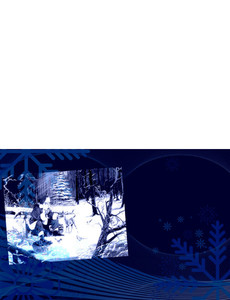 New Holiday Season Greeting Cards Landscape Template: 299813
