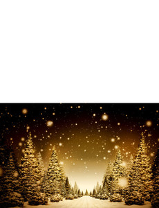 New Holiday Season Greeting Cards Landscape Template: 299821