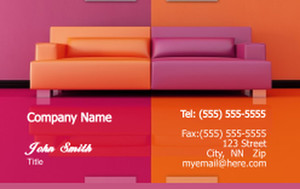 Living room Business Cards Credit Card Template: 319645