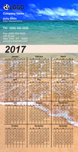 Beach / Waterfront / Scenery Magnetic Calenders Template: 324240