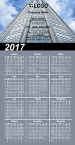 Commercial Building Magnetic Calenders Template: 324775