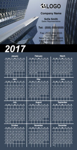 Commercial Building Magnetic Calenders Template: 324778