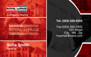 On To Customize Design Royal Le Page Business Cards Credit Card Template 327080