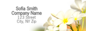 Florists Return Address Labels Template: 333980
