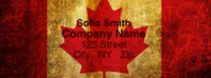 Canada Return Address Labels Template: 334089