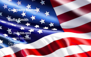 USA Business Cards Credit Card Template: 335869