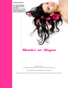 Hairdressers - Stylists Brochure Flyers Portrait Template: 342694