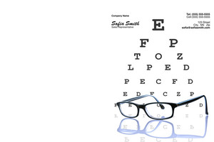 Optometrist Pocket Folders Template: 344281