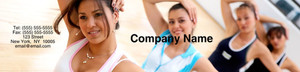 Gym - Fitness Classes Labels Water Bottle Template: 348164