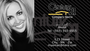 Century Business Cards Template Wow Impression - Century 21 business cards template