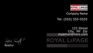 On To Customize Design Royal Le Page Business Cards Template 500107
