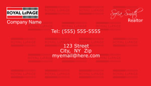 On To Customize Design Royal Le Page Business Cards Template 500147