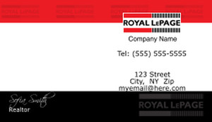 On To Customize Design Royal Le Page Business Cards Template 500155