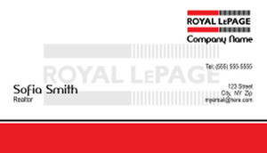 On To Customize Design Royal Le Page Business Cards Template 500161