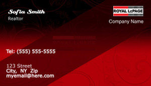 On To Customize Design Royal Le Page Business Cards Template 503947