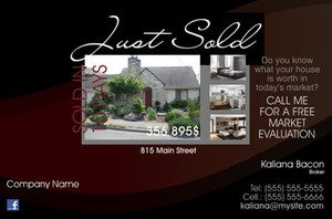 *Real Estate Postcards Template: 540747